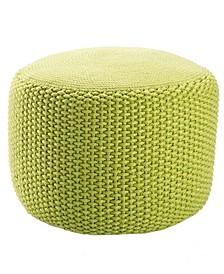 Viridis Green Solid Square Indoor/ Outdoor Pouf