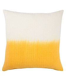 Museum Ifa By Dusk Yellow/White Ombre Poly Throw Pillow 20""