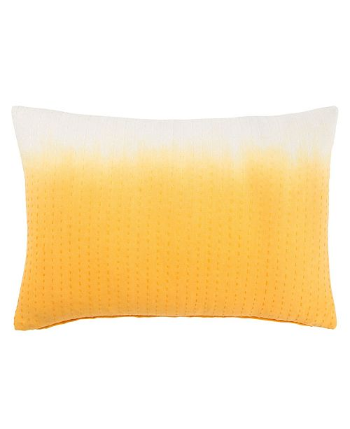 "Jaipur Living Museum Ifa By Dusk Yellow/White Ombre Down Throw Pillow 14"" x 20"""