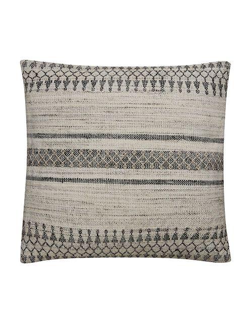 "Jaipur Living Prescott Gray/Ivory Geometric Poly Throw Pillow 20"""