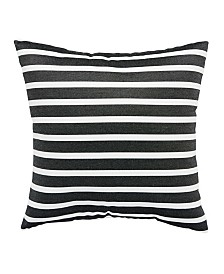 "Jaipur Living Shore Black/White Stripe Indoor/ Outdoor Throw Pillow 20"""