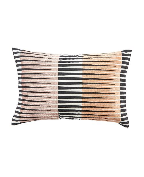 "Jaipur Living Nikki Chu By Chareau Black/Pink Geometric Down Throw Pillow 16"" x 24"""