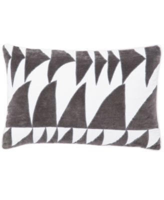 "Nikki Chu By Priscilla Geometric Down Throw Pillow 16"" x 24"""