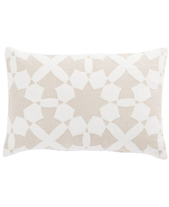 "Jaipur Living Nikki Chu By Casino Beige/Ivory Geometric Poly Throw Pillow 16"" x 24"""