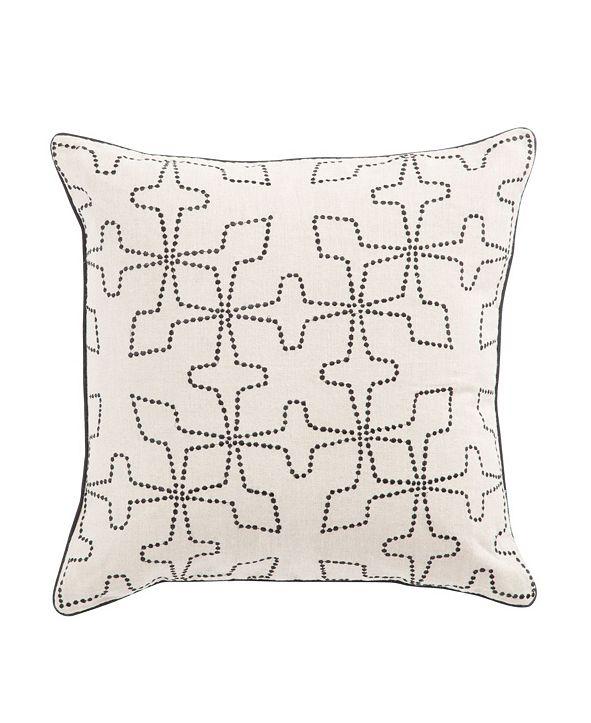 "Jaipur Living Nikki Chu By Greta Cream/Black Geometric Poly Throw Pillow 22"""