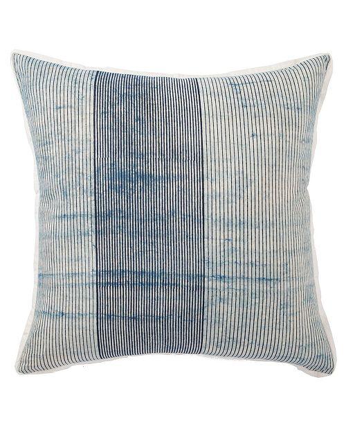 "Jaipur Living Alicia Handmade Stripe Blue/White Poly Throw Pillow 22"""