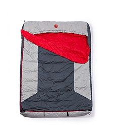 Home-Away-King Bed M-3D 10 Degree Fahrenheit -12.2 Degree Celsius Multi-Down Double Wide Hooded Rectangular Sleeping Bag