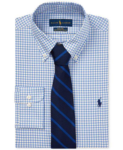 Polo Ralph Lauren Men's Plaid Cotton Dress Shirt