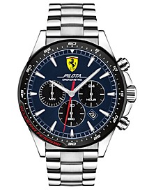 Men's Chronograph Pilota Stainless Steel Bracelet Watch 45mm