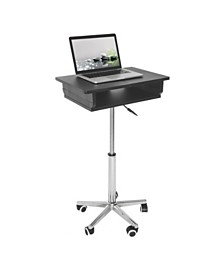 Techni Mobili Folding Table Laptop Cart, Quick Ship
