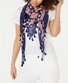 Collection XIIX Stars & Stripes Tassel Triangle Scarf