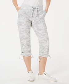 Calvin Klein Performance Printed Tie-Hem Capri Pants
