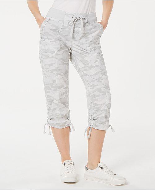 Calvin Klein Printed Tie-Hem Capri Pants