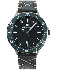 MENS DILLON CHARCOAL LEATHER STRAP 42 mm