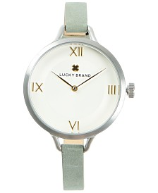 LUCKY BRAND WOMENS INDIO SAGE SUEDE STRAP 36mm