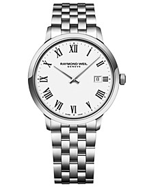 Men's Swiss Toccata Stainless Steel Bracelet Watch 39mm