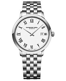 RAYMOND WEIL Men's Swiss Toccata Stainless Steel Bracelet Watch 39mm