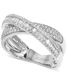 EFFY® Diamond Crisscross Ring (5/8 ct. t.w.) in 14k White Gold