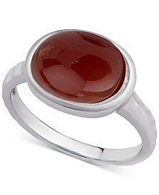 Amethyst Oval Bezel Statement Ring (2 ct. t.w.) in Sterling Silver (Also available in Carnelian, Aqua Quartz & Labradorite)