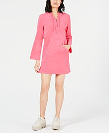 Terry Hooded Mini Dress