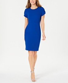 Calvin Klein Petite Tulip Puff-Sleeve Sheath Dress