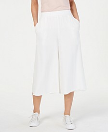 Cropped Silk Wide-Leg Pants, Regular & Petite