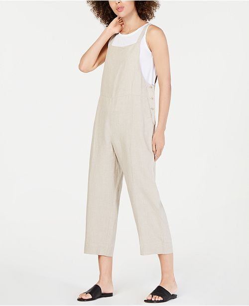 Eileen Fisher Organic Cotton Cropped Jumpsuit, Regular & Petite