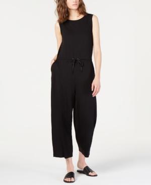 Eileen Fisher Suits CROPPED DRAWSTRING TENCEL JUMPSUIT, REGULAR & PETITE