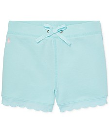 Polo Ralph Lauren Big Girls Scallop-Trim French Terry Shorts