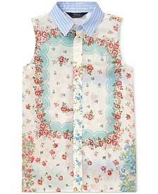 Polo Ralph Lauren Big Girls Sleeveless Cotton Top