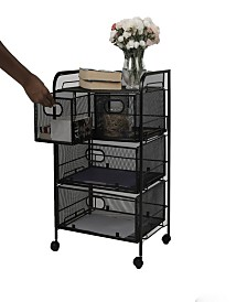 Mind Reader Mesh 4 Drawer Rolling Mesh Office Cart