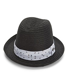 Perry Ellis Braided Straw Fedora