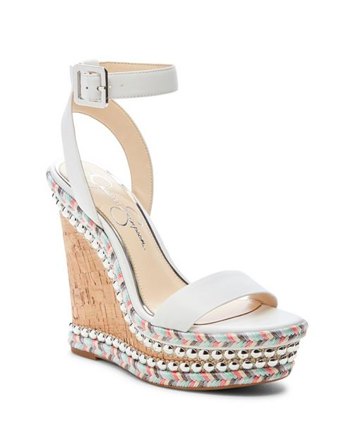 bb8b53cfbc2 Jessica Simpson Alinda Woven Platform Wedge Sandals   Reviews ...