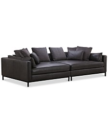Plassey 2-Pc. Square Reversible Chaise Sectional Sofa
