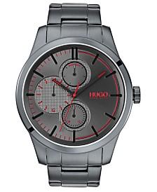 HUGO Men's #Discover Gray Stainless Steel Bracelet Watch 46mm