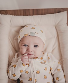 finn + emma Little Prince Baby Girls & Boys Organic Cotton 2-Pc. Coverall & Hat Set