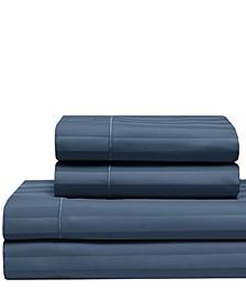 Cooling Cotton Satin Stripe Queen Sheet Set