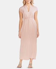 Vince Camuto Tie-Waist Cap-Sleeve Maxi Dress