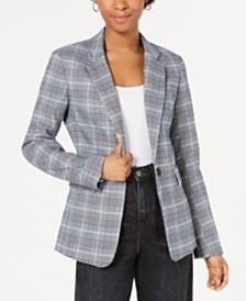 1.STATE Yarn-Dye One-Button Blazer