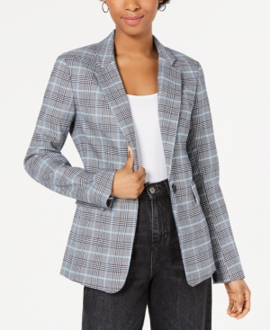 1.state Blazers YARN-DYE ONE-BUTTON BLAZER
