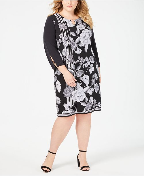 JM Collection Plus & Petite Plus Size Printed Dress, Created for Macy's