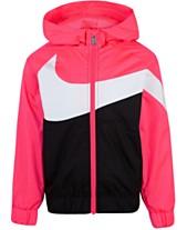 d66f5ba6 Nike Little Girls Oversized Swoosh Windrunner Jacket