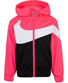 Nike Little Girls  Oversized Swoosh Windrunner Jacket