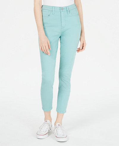 Celebrity Pink Juniors' Red Skinny Ankle Jeans