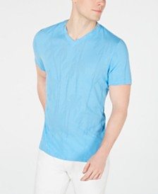 I.N.C. Men's Burnout Palm V-Neck T-Shirt, Created for Macy's