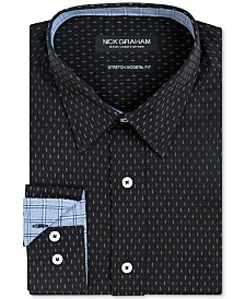 Nick Graham Men's Slim-Fit Dot-Print Shirt
