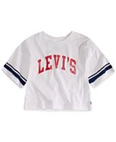 771c7cfc38b Levi s® Big Girls Football Stripe Cropped Cotton T-Shirt