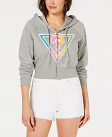 GUESS Originals Cropped Logo Hoodie