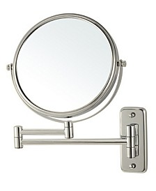 Glimmer Wall-Mounted Double Sided 3x Makeup Mirror