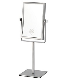 Glimmer Double Face Rectangular 3x Makeup Mirror